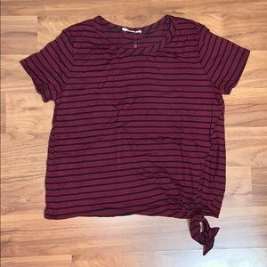 NWT Olivia Rae Striped Tie Front Shirt